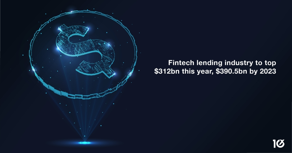 Fintech lending industry to top $312bn this year, $390.5bn by 2023