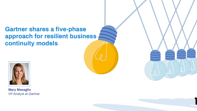 Gartner shares a five-phase approach for resilient business continuity models