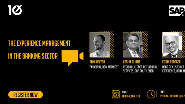 SAP shares expertise on Experience Management in the Banking Sector