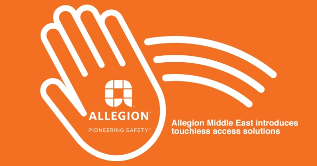 Allegion Middle East introduces touchless access solutions for Middle East markets