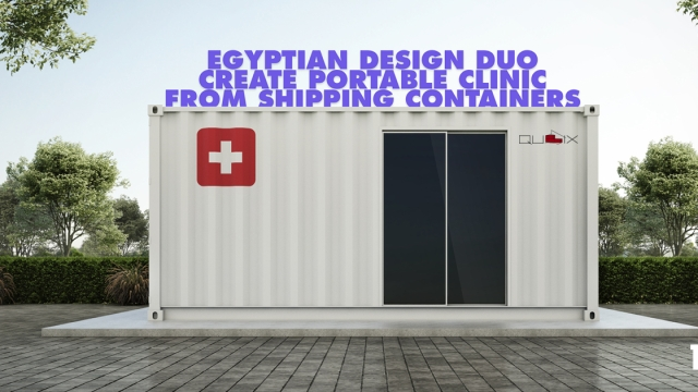 Egyptian design duo create portable clinic from shipping containers