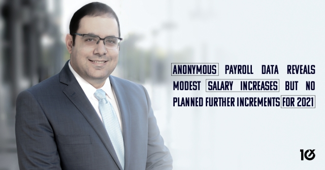 Anonymous payroll data reveals modest salary increases but no planned further increments for 2021
