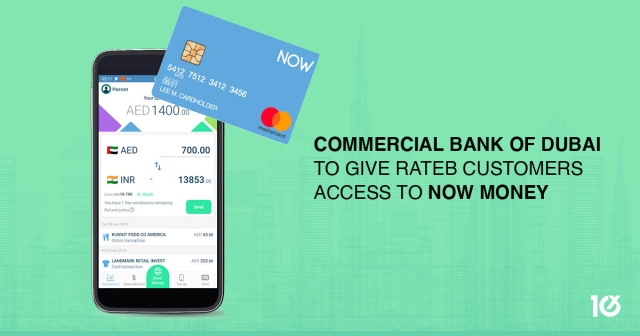 Commercial Bank of Dubai to give Rateb customers access to NOW Money