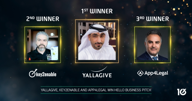 YallaGive, Key2Enable and App4Legal win Hello Business Pitch