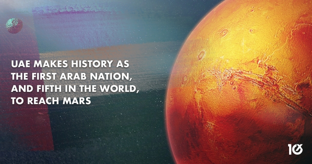 UAE makes history as the first Arab nation, and fifth in the world, to reach Mars