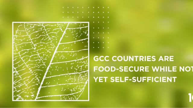 GCC Countries are food-secure while not yet self-sufficient