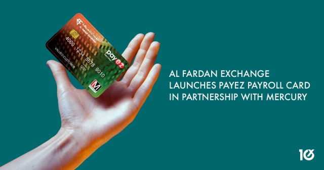 Al Fardan Exchange launches Payez payroll card in partnership with Mercury