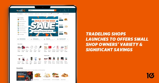 Tradeling Shops launches to offers small shop owners' variety and significant savings