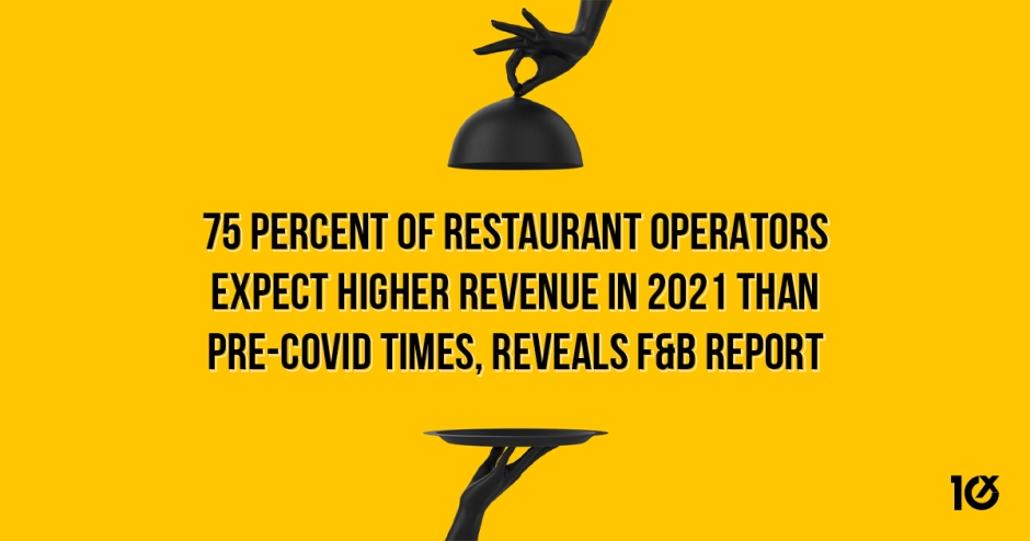 75 percent of restaurant operators expect higher revenue in 2021 than pre-COVID times, reveals F&B report