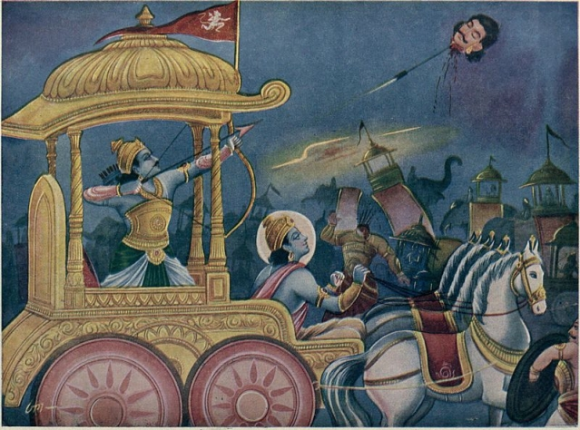 When Krishna Stopped Arjuna from Killing Yudhishthira
