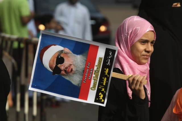 From a rally in Egypt calling for the release of Omar Abdel-Rahman, 2011 (KHALED DESOUKI/AFP/Getty Images)