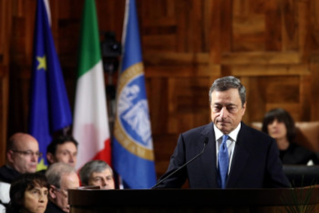 Mario Draghi, president o ECB, via Getty Images