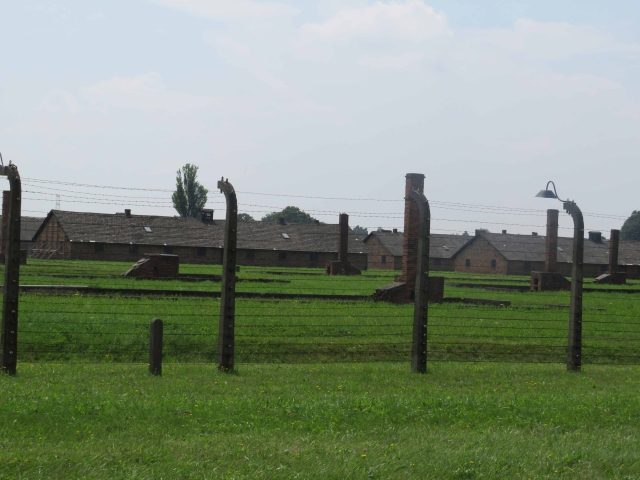 One of the concentration camps fenced by barbed wires.