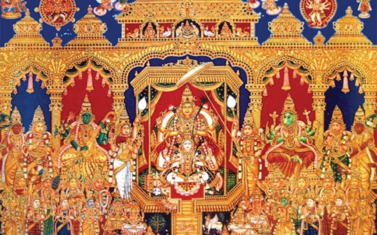 The Great Goddess Lalita And The Sri Chakra