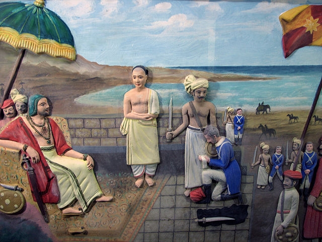 Depiction of De Lannoy's Surrender At Padmanabhapuram Palace (Infocaster at the English language Wikipedia)