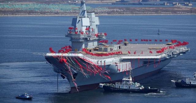 China Starts Conducting Sea Trials Of Its First Homegrown Aircraft Carrier