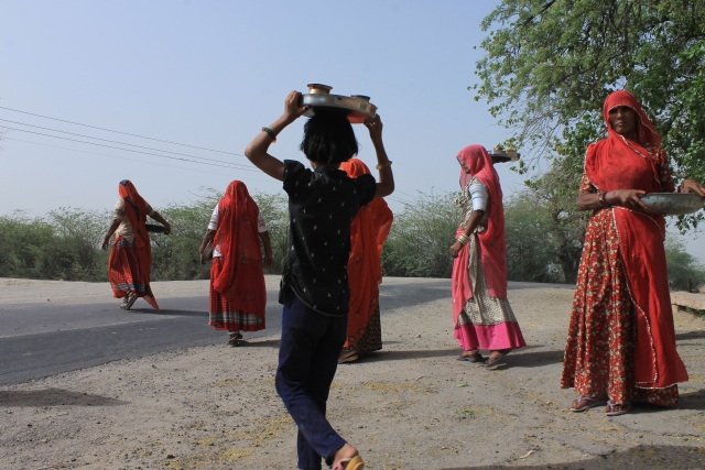 Bishnoi women of Guda Bishnoi celebrate Baisakh with women from other castes.