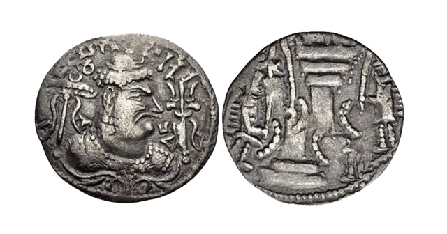 Coins of Mihirakula show the trident of Shiva – Rakula, the Hun, projected himself as the devotee of Shiva.