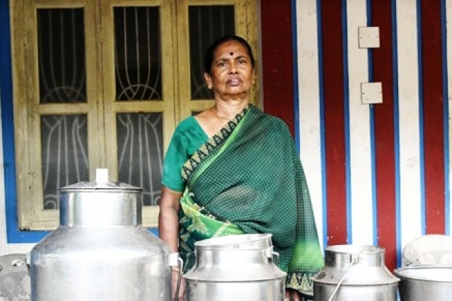 Rising cattle thefts in the state have forced Kalyani Amma, who once owned 50 cows, to take up the job of a sweeper in a college.