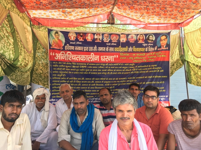 Rajat Kalsan with Dalit protesters