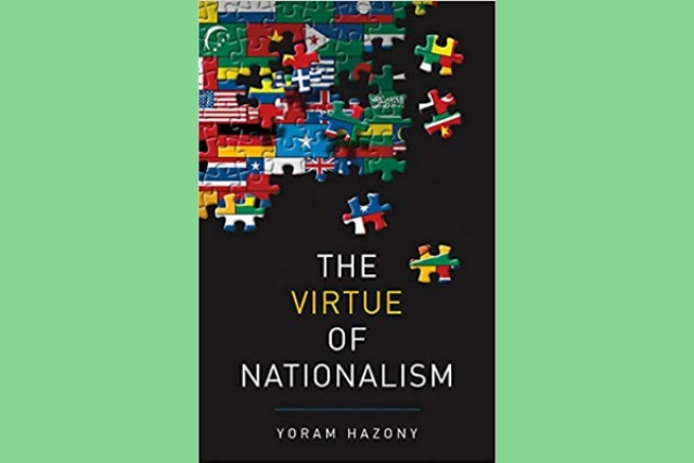 Cover of the book <i>The Virtue of Nationalism</i> by Yoram Hazony
