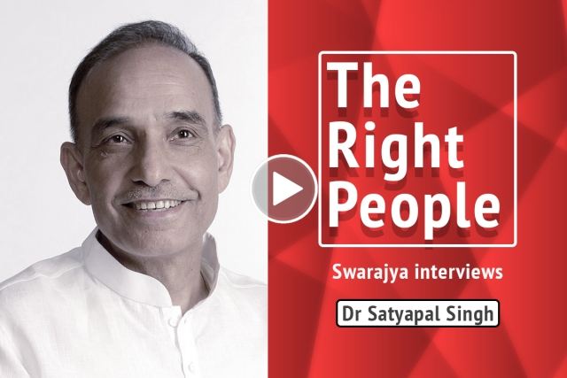 The Right People: Dr Satyapal Singh On The Inequality Of Rights Between Majority And Minorities In Secular India