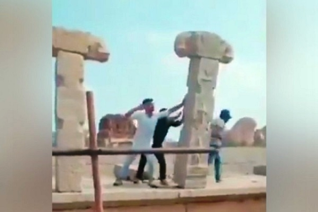 Miscreants Who Vandalised Heritage Hampi Structures Made To Re-Erect Them; Slapped With Rs 70,000 Fine Each