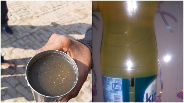 Water samples from Kaul (left) and Allipur (<i>Swarajya</i>)