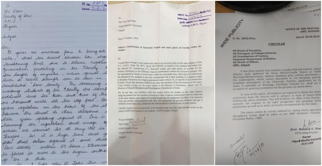 Letter on alleged nepotism, temple and new rule for prior permission for events
