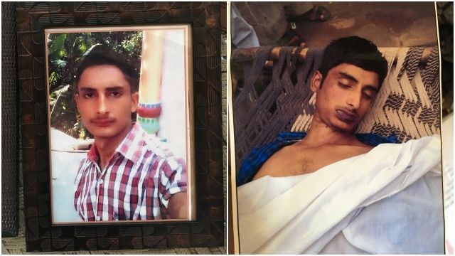 Gulhasan (left). His body found on 23 July