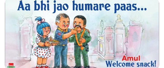 The Amul ad featuring Abhinandan was widely appreciate (Source: @MadhuriKalal/Twitter)