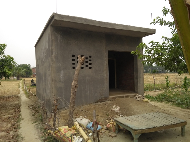A house being built under Pradhan Mantri Awas Yojana in Baghi Bhari village. (Prakhar Gupta/Swarajya Magazine)