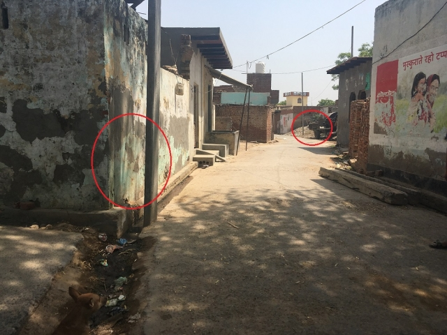 Distance between Aslam's house and garbage mound