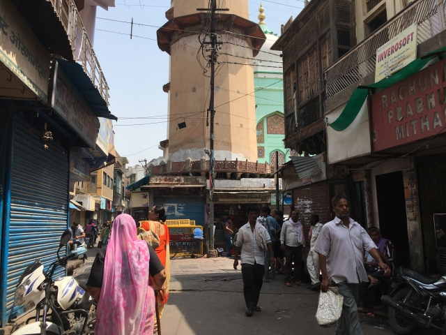 A view of the lane in Chowk Bazaar.