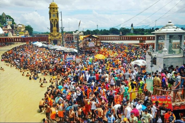 In Pictures: Over 3 Crore Pilgrims Reach Haridwar As Part Of Ongoing Kanwar Yatra