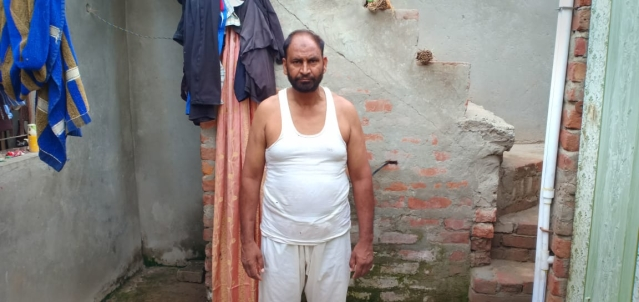Dilsher Khan at his house in Mehfooz Nagar.