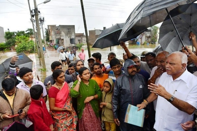 Yediyurappa Leads From The Front, Camps In Flood Affected Belgavi To Oversee Relief And Rescue Efforts