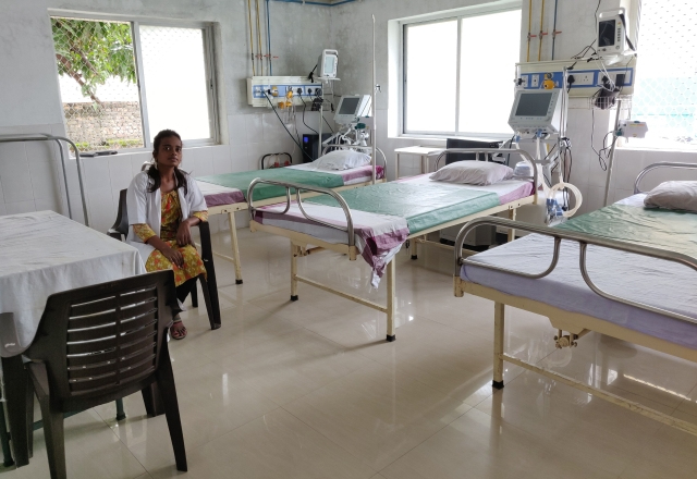A new three-bed, ventilator-equipped PICU at Hatablock, Kushinagar district.