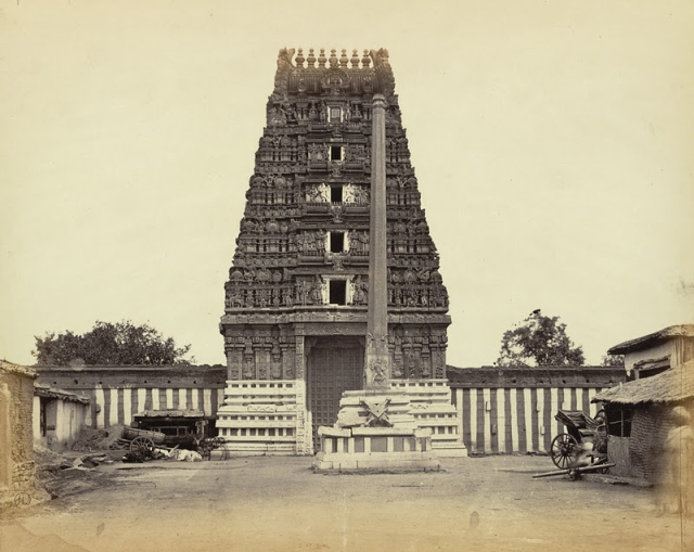 An 1868 capture of the Halasuru Someshwara Shrine entrance from the Archaeological Survey of India Collections (Hnery Dixon/WikiCommons)