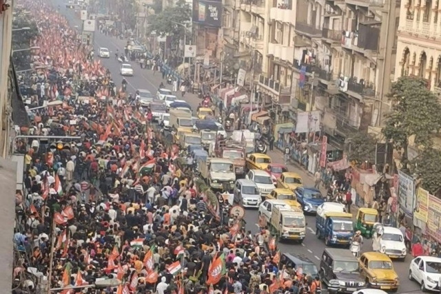 After Violent Anti-CAA Protests In West Bengal, BJP Organises Massive Rally In State To Support New Citizenship Law