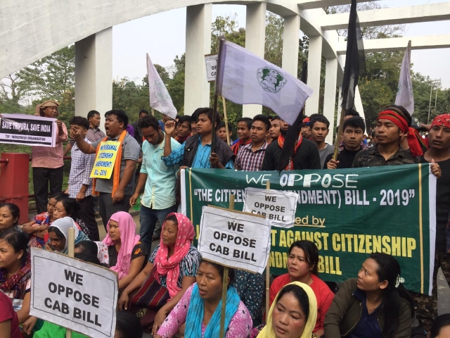 Tripura takes part in NESO's protest against CAB