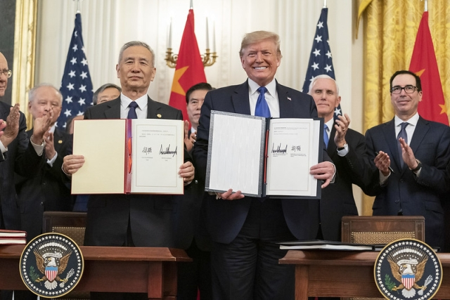 US President Donald Trump Signs Phase One Trade Deal With China After Months Of Negotiations