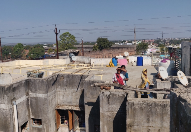 The rooftop on which a makeshift madrassa was operating. (Swati Goel Sharma/Swarajya Magazine)