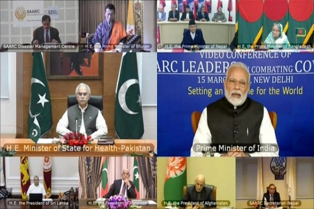 'Politicising A Humanitarian Issue': India Slams Pakistan For Raising Kashmir During SAARC Coronavirus  Conference