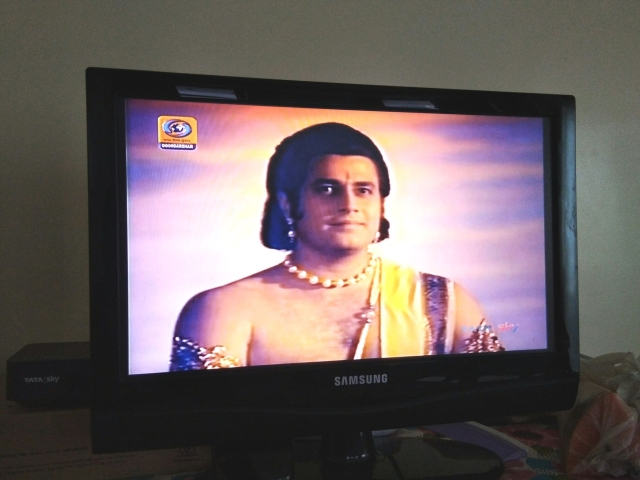 Ramayan on DD National.
