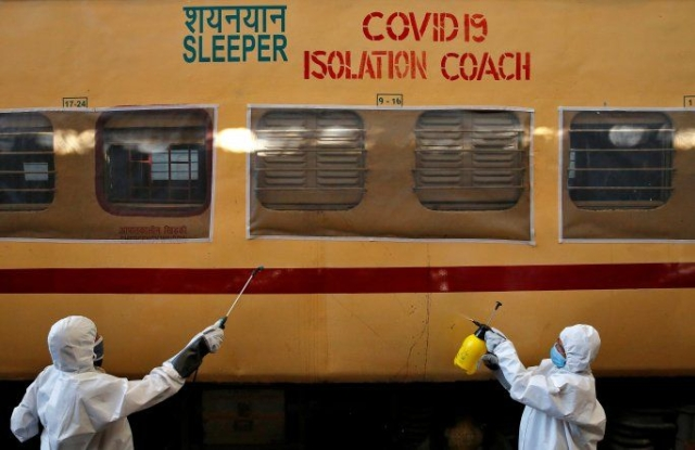 Isolation Coaches Prepared By Indian Railways Deployed At Delhi's Shakur Basti Station For Suspected Corona Patients