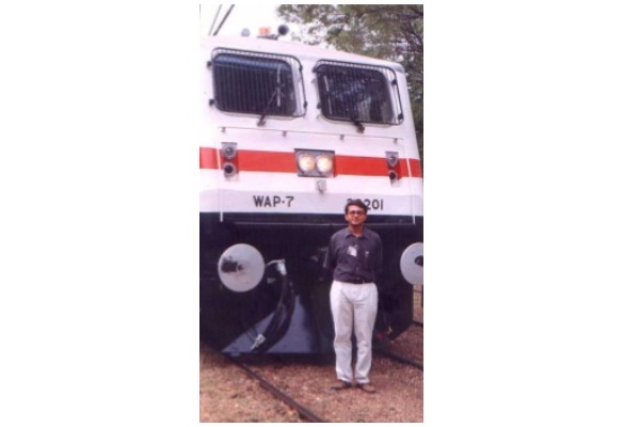 Author, driving out the first WAP7,30201, later named 'Navkiran' in Chittaranjan