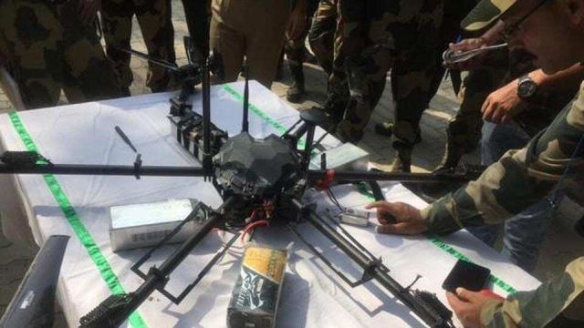 J&K: BSF Shoots Down Pakistani Drone Carrying Consignment Of Rifle, Magazine Shots And Grenades For One 'Ali Bhai'