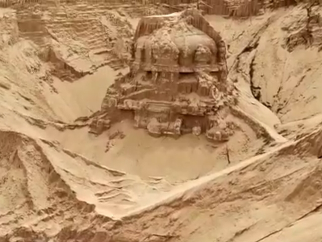 Ancient Lord Shiva's Temple Buried In River Sand Unearthed In Andhra Pradesh's Nellore