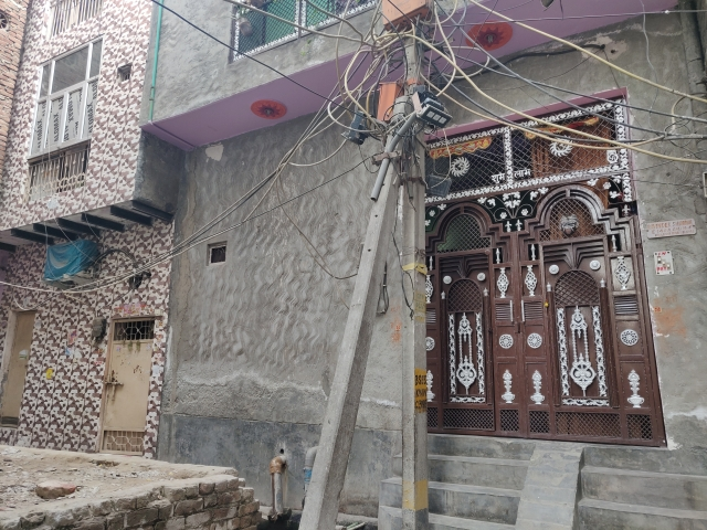Ankit Sharma's house in a lane to the left of Hussain's building in Khajuri Khas.